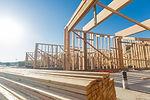 Wood Home Framing Abstract At Constructi