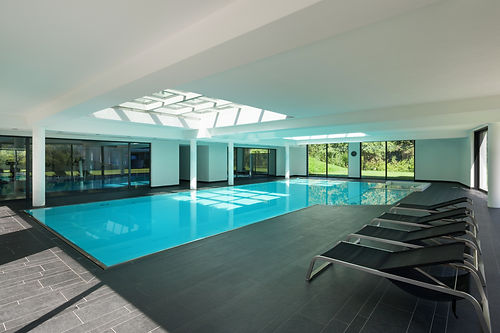 indoor swimming pool of a modern house w