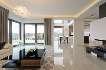 Photo of spacious expensive living room