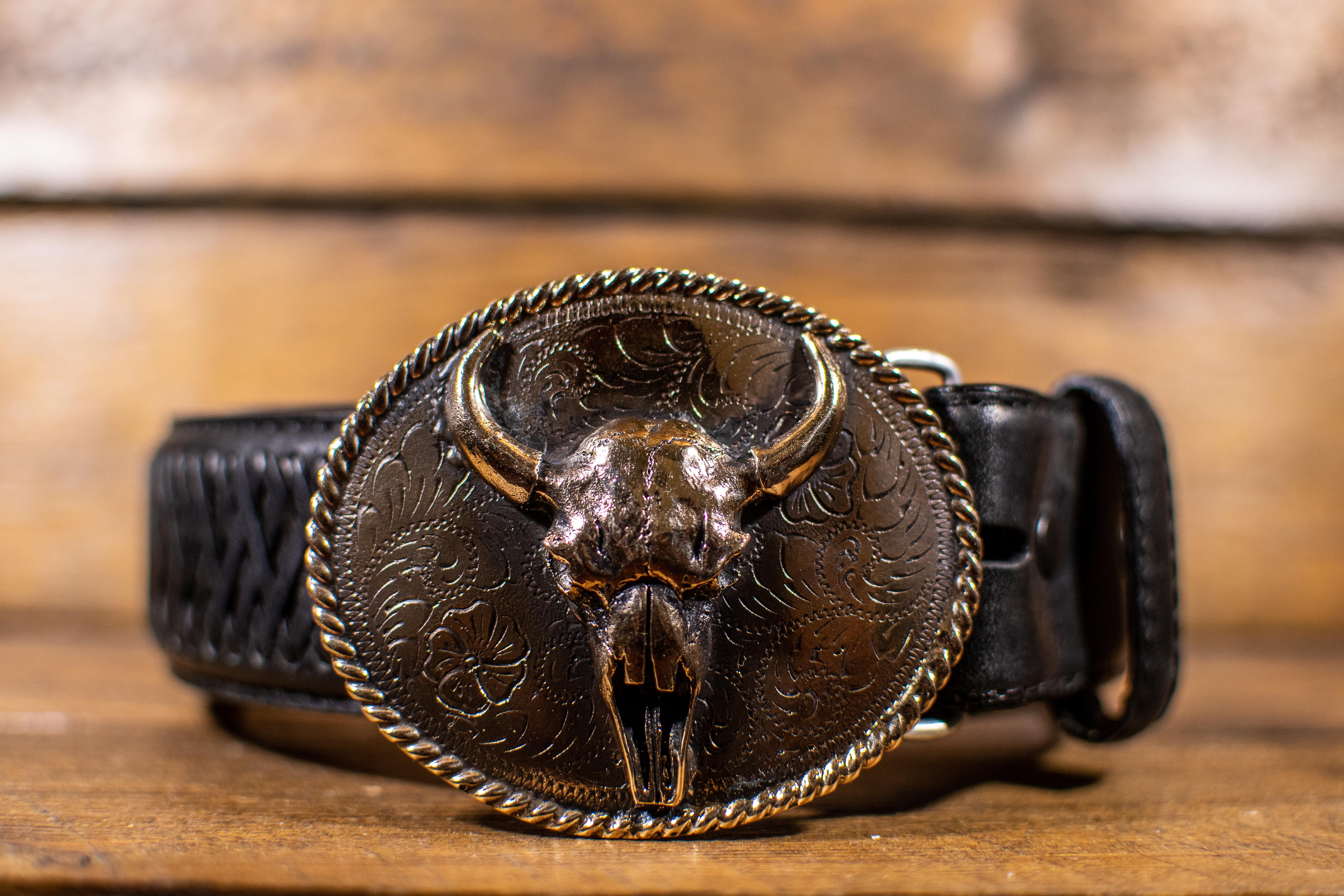 Vintage Bull Skull Buckle