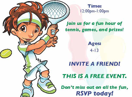Complimentary Kids Tennis Carnival