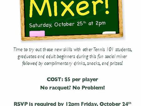 Tennis 101 Mixer