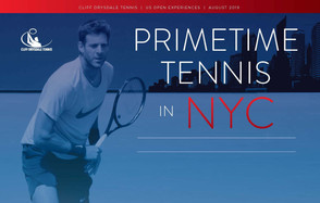 Primetime U.S. Open Experiences Offered by Cliff Drysdale Tennis