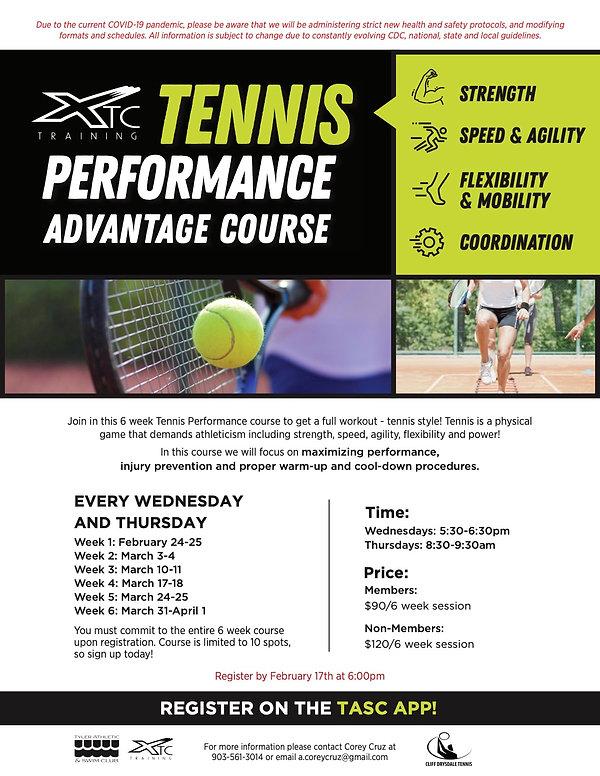 TASC_XTC_TennisPerformanceCourse_Spring2