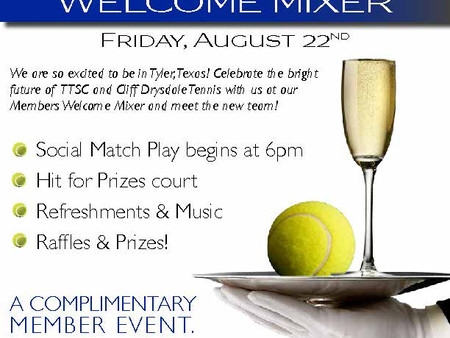 Join Us for Our Members Welcome Mixer!
