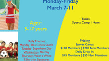 SIGN UP FOR SPRING BREAK SPORTS CAMP