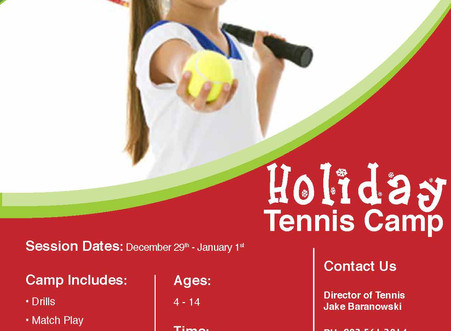 Holiday Tennis Camp