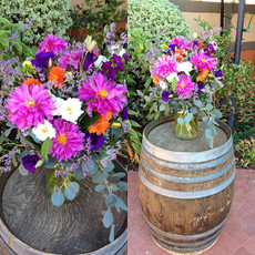 Pink Dahlia w/Mixed Flowers Arrangement