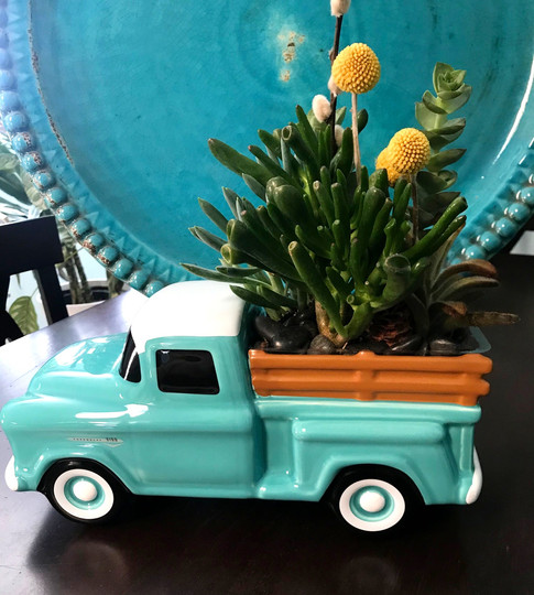 '55 Chevy Planted w/Succulents or Flowers!