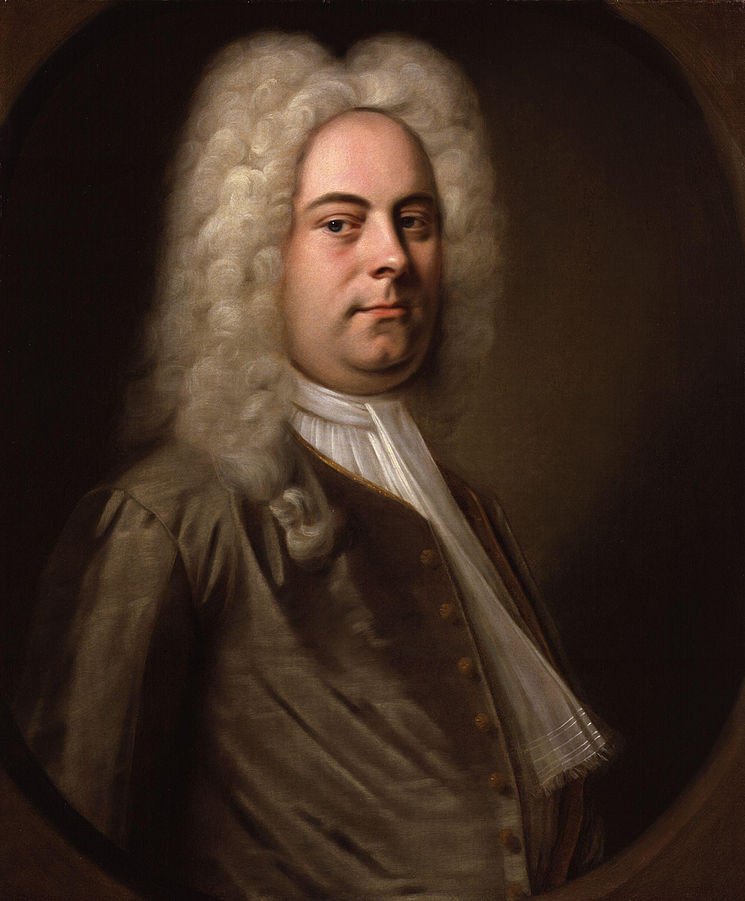 George Fredrick Handel Attributed to Balthasar Denner - National Portrait Gallery: NPG 1976, Public Domain, https://commons.wikimedia.org/w/index.php?curid=6364709