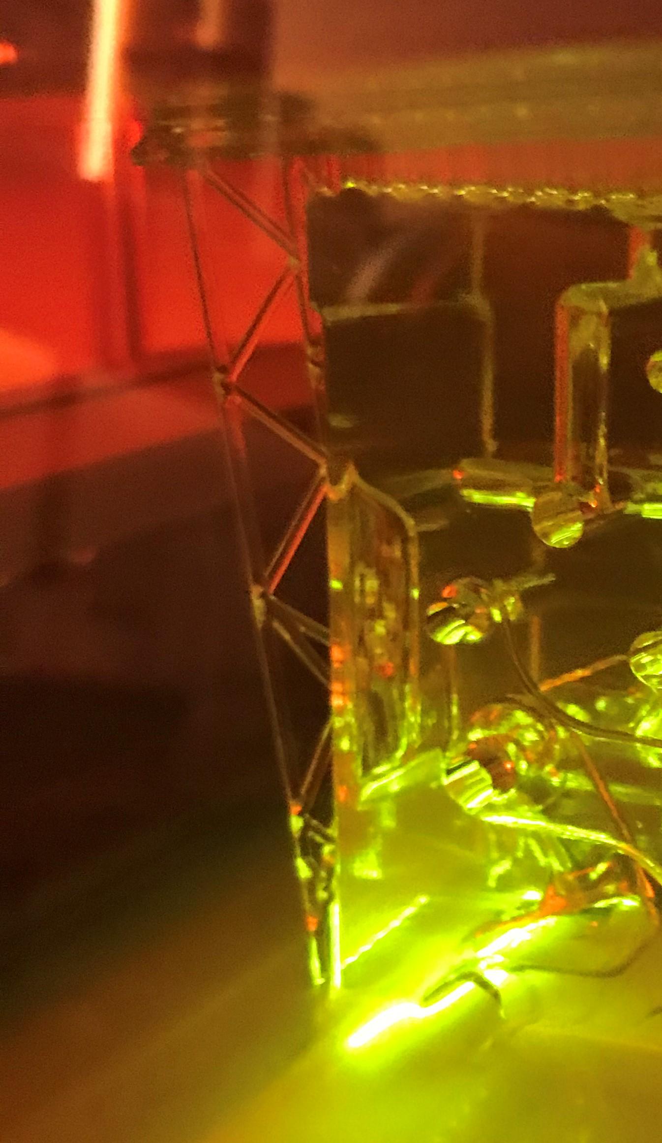 transparenter 3D Druck mit innenliegende