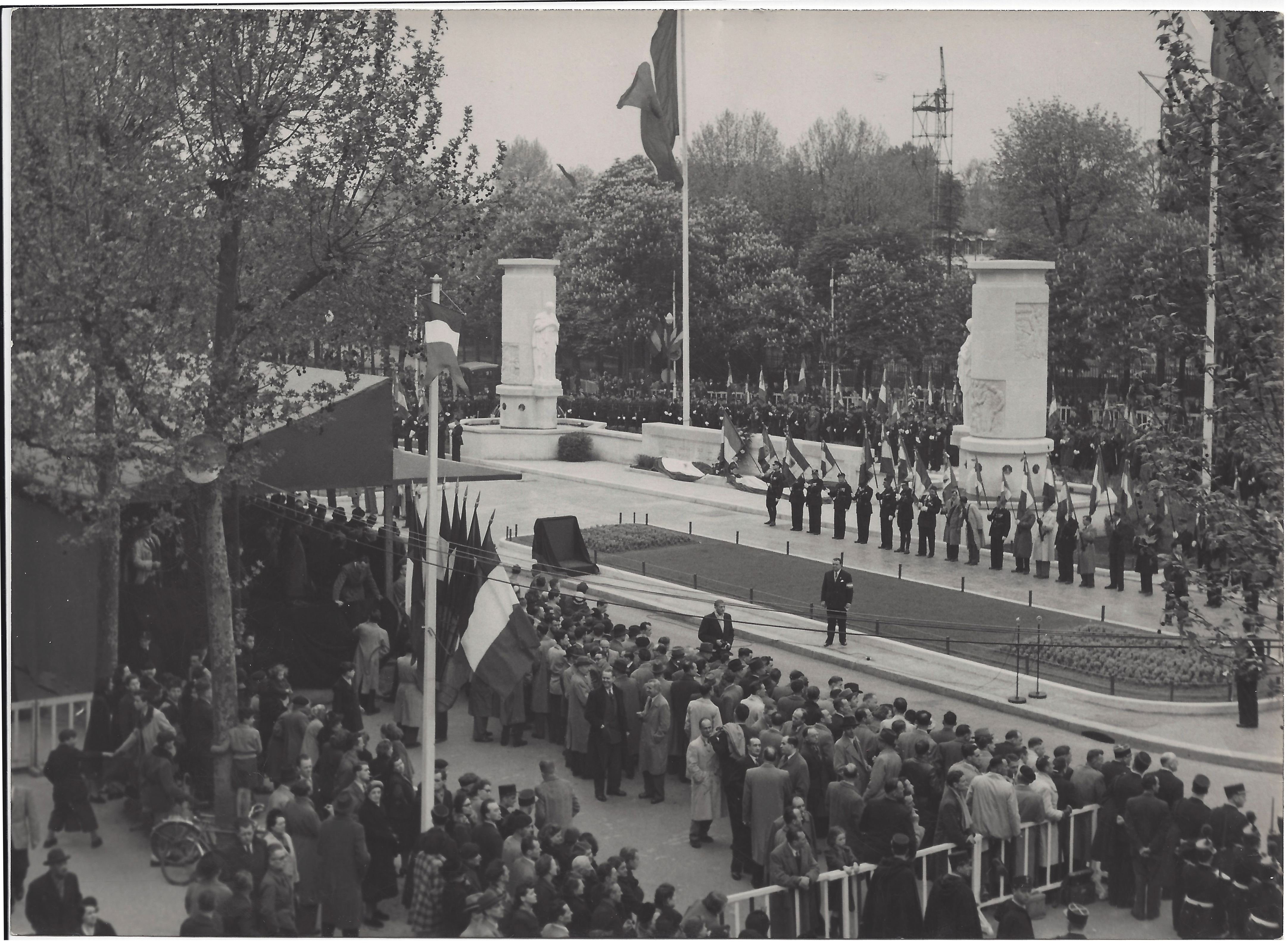 Inauguration Monument Police Nationale 1951