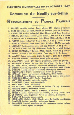 Liste municipale Achille Peretti