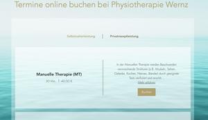 Praxiskonzept Physiotherapie Wernz | Online-Buchungs-System