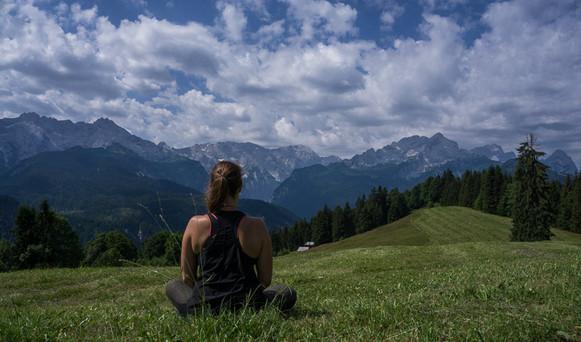 Eckbauer bei Garmisch Meditation