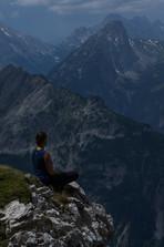 Meditieren in den Bergen Mittenwald