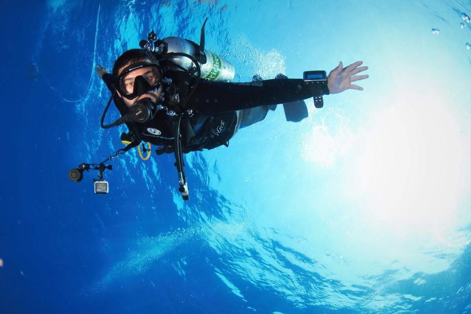 Dive instructor Bruno Rodrigues
