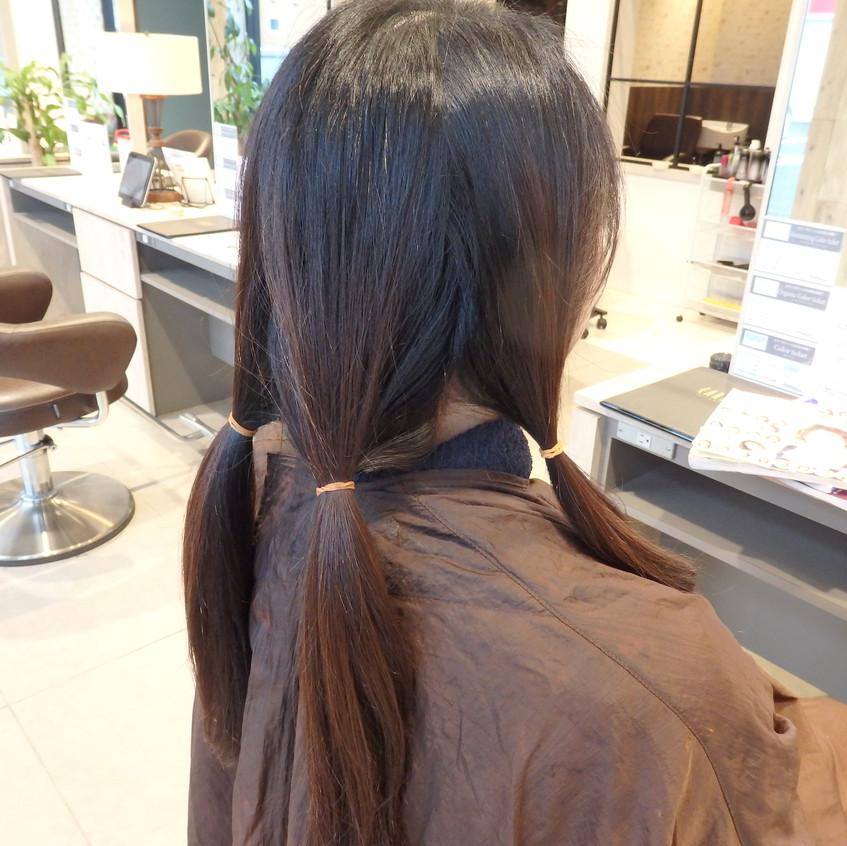 断髪前の準備