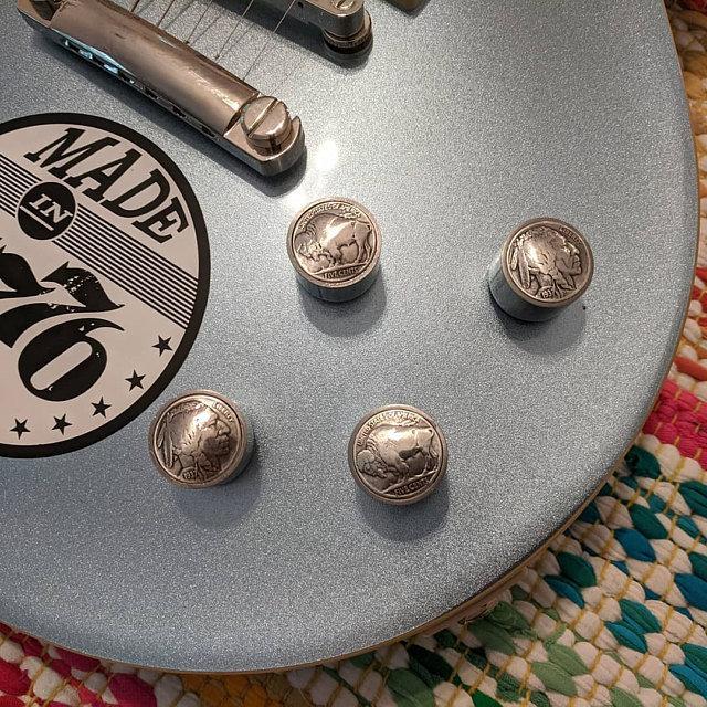 Buffalo Nickel Guitar Knobs
