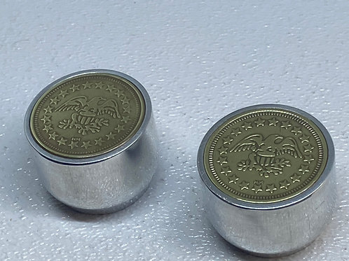 Authentic 60's tokens . Eagle guitar knobs.