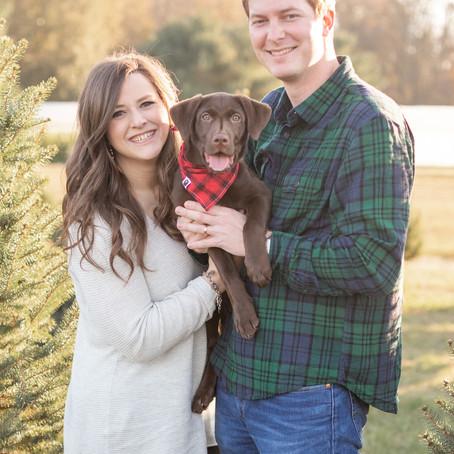 Fredericksburg Holiday Couple's Session | Snead's Asparagus Farm | Ann Marie & Andy