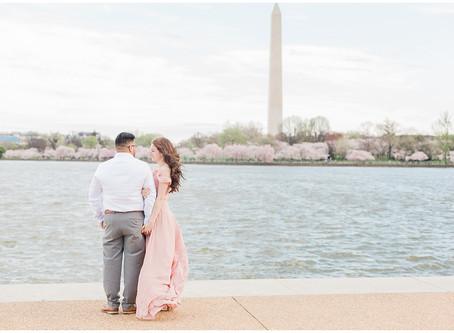 Washington D.C. Engagement   Cherry Blossoms 2020   Yayo & Joanna