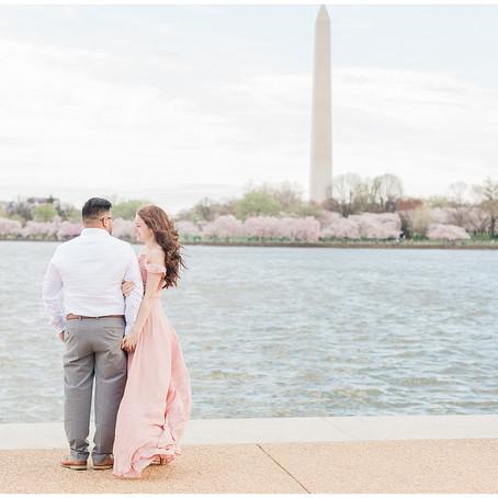 Washington D.C. Engagement | Cherry Blossoms 2020 | Yayo & Joanna