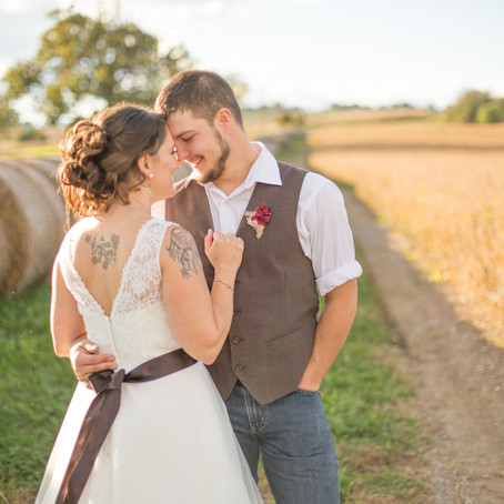 Winchester Fall Wedding | Rustic Orchard View Farm | Amy & Tyler