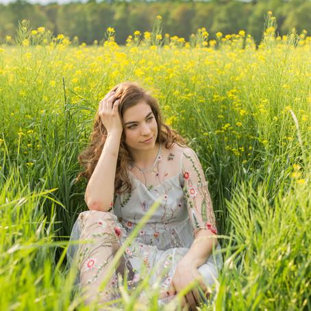 Summer Senior Session | Field of Wildflowers | Stafford, VA | Arianna