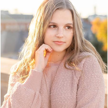 North Stafford High School | Senior Portraits | Olivia downtown Fredericksburg