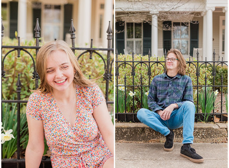Spring Senior Session | Stafford Senior Photographer | Downtown Fredericksburg | Lexie & Elijah