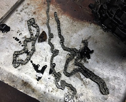 Snapped BMW timing chain