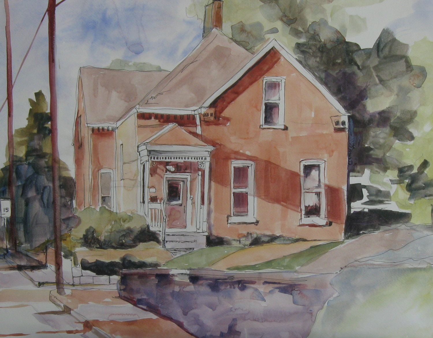 Water Color of a St. Charles MO home