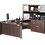 Thumbnail: A03 Bullet U shape desk with combo Lateral file & Hutch
