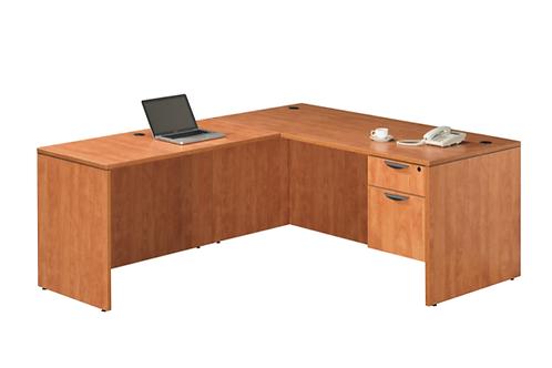 A21 L shape desk with 1 B.F files .
