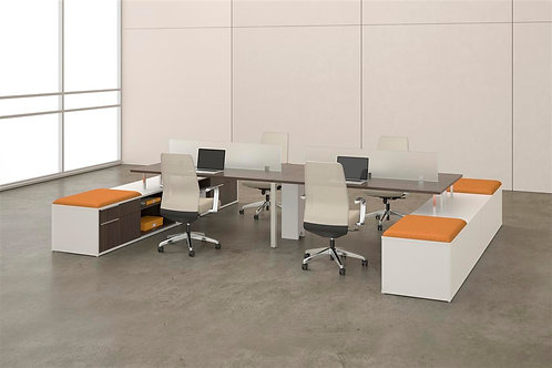 Desk Makers TeamWorX Layout 2656
