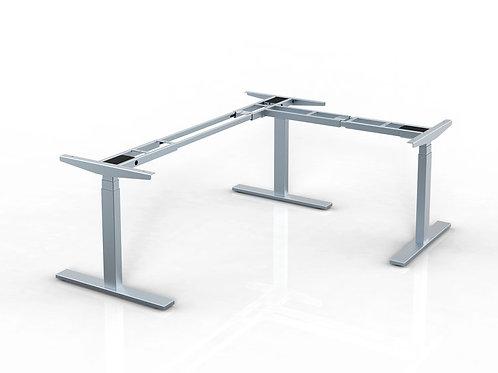 L shape height adjustable table base