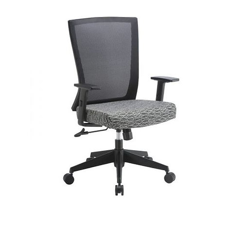 4011 Mesh back chair with fabric seat.