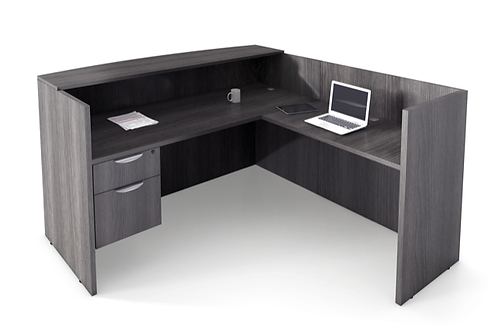 L Shape Reception desk with one file