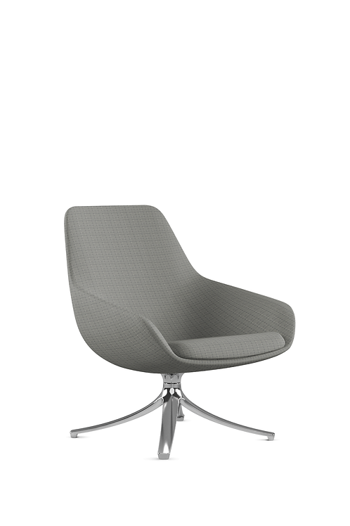 9to5 Lily Chair in Avant/Steel