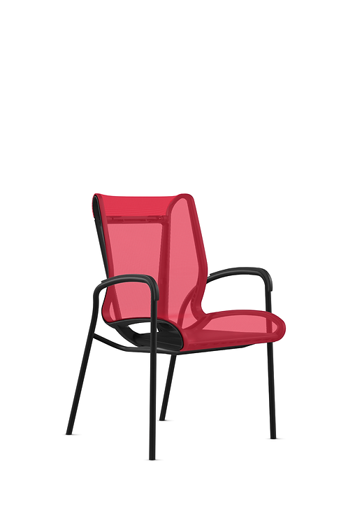 9to5 Cydia side chair - Red mesh