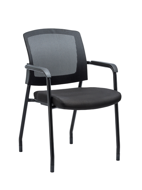 Cowboy stacking side chair mesh back