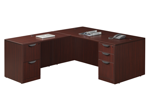 A22 L shape desk with 1 B.B.F. & 1 F.F. file