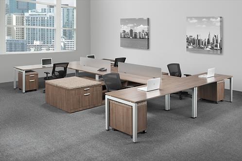 Suite 213 - 4 person desk set .