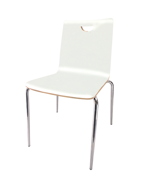 Stacks White side chair