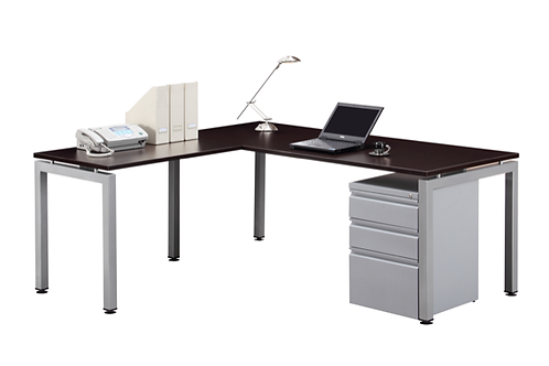 Suite 206 - L shape desk with mobile B.B.F. file .