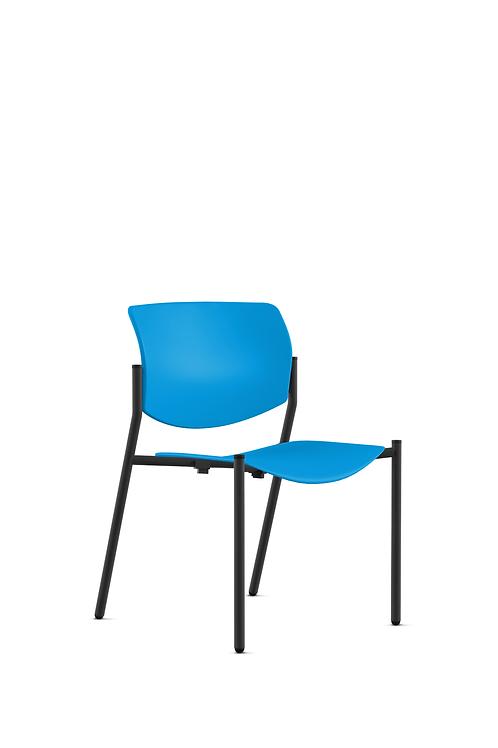 9to5 Shuttle Chair-Plastic, Azure Blue