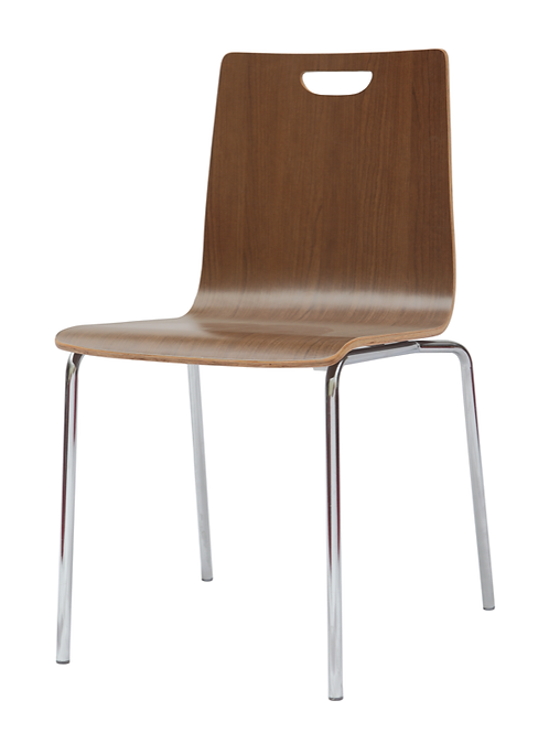 Stacks wood grain side chair