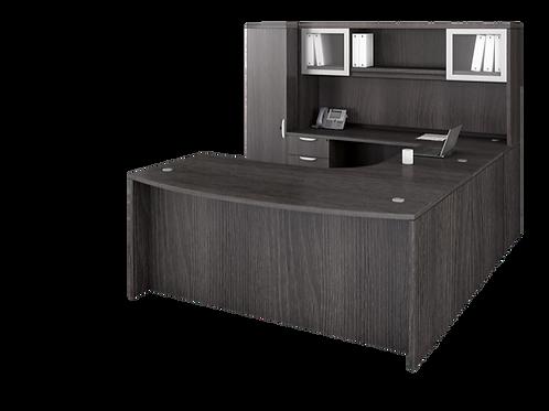 A07 U shape desk with 2  files storage unit & Hutch