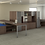 Thumbnail: Suite 215 - 4 Person stations with glass front storage.